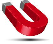 Röd hästsko-magnet — Stockvektor