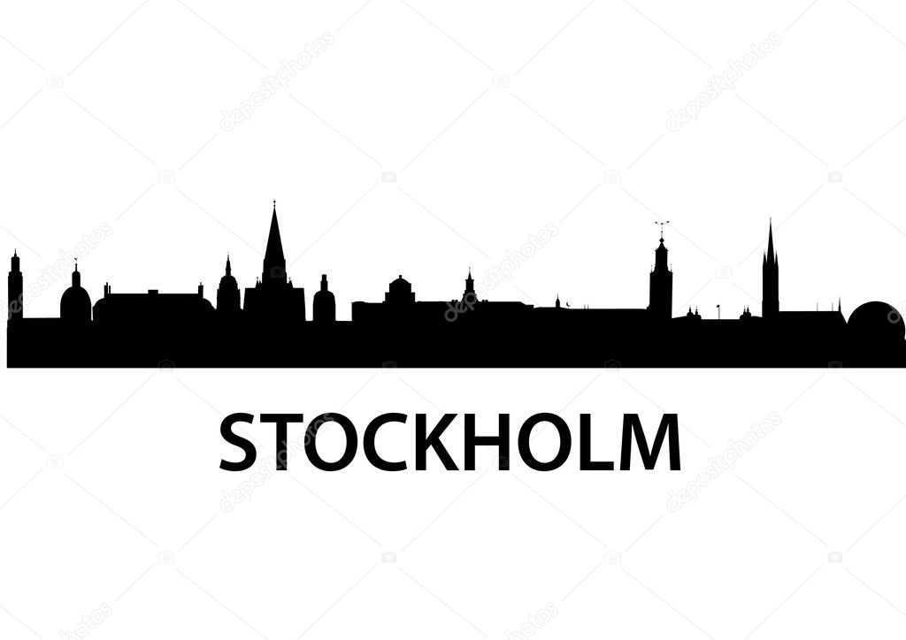 Detailed vector skyline of Stockholm  Stock Vector #5272772