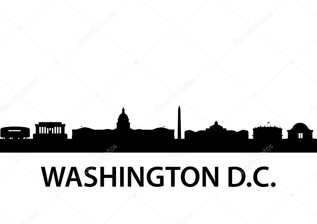 Detailed silhouette of  Washington D.C. — Stock Vector #5272774