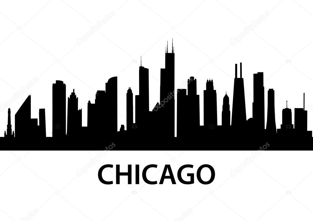 Detailed silhouette of Chicago, Illinois  Stock Vector #5272783