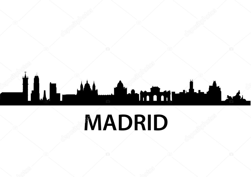 Detailed vector skyline of Madrid — Stock Vector #5272789