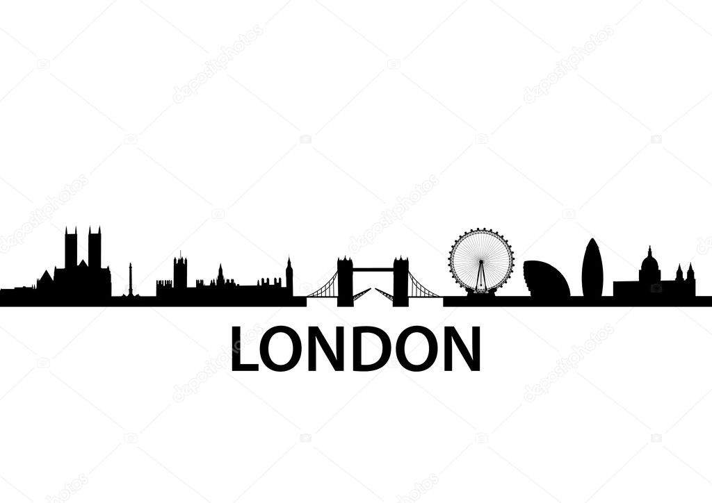 Detailed vector skyline of London, UK — Stock Vector #5272790