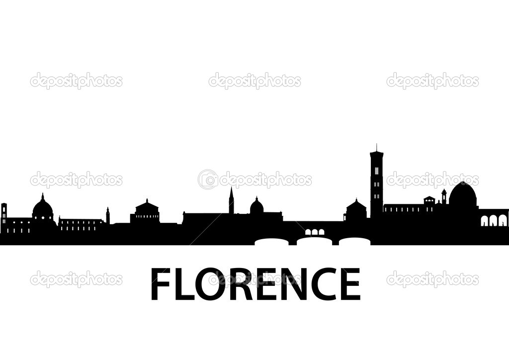 Detailed vector silhouette of Florence, Italy — Stock Vector #5272807