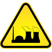 Danger of nuclear power — Stock Vector