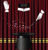 Magic curtain — Stock Vector