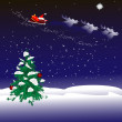 Stock Vector: Christmas night background