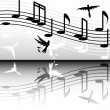 Black and white melody - Imagens vectoriais em stock