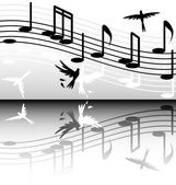 Black and white melody — Stock Vector