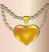 Gift heart — Stock Vector