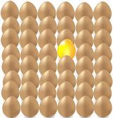 Golden egg — Stock Vector