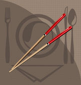 Chopsticks for sushi — Stock Vector