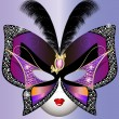 Vettoriale Stock : Butterfly mask