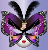 маска бабочка — Cтоковый вектор
