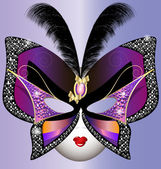 Butterfly mask — Vector de stock