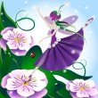 Lilac fairy — Stock Vector #4930452