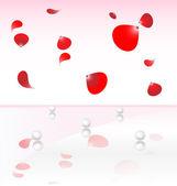 Pearl and petals — Stock Vector