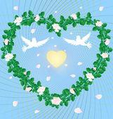 Roses de coeur — Vecteur