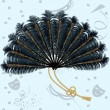 Royalty-Free Stock Vector Image: Feathers fan