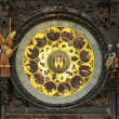 Zodiacal clock in Prague. Czech Republic. - Stock Photo