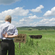Royalty-Free Stock Photo: Lonely herdsman
