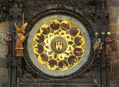 Zodiacal clock in Prague. Czech Republic. — Stock Photo