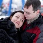 Happy couple hugging — Stock Photo