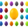 Royalty-Free Stock Vector Image: Set of colorful Easter eggs