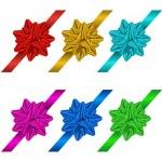 Set of gift bows and ribbons — Stock Vector