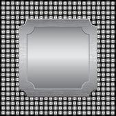 Metalową kratą z blachy — Wektor stockowy
