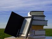E knihy čtenáře a knihy — Stock fotografie