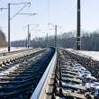Railroad at winter time — Stock Photo #4818145