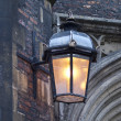 Stock Photo: Old lantern at street of Cambridge