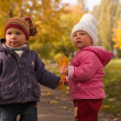 Children playing in autumn — Stock Photo