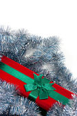 Christmas present isolated against white background — Stock Photo