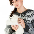 Portrait of a beautiful girl with toy — Stock Photo #4607692