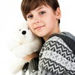 Portrait of a beautiful girl with toy — Stock Photo #4607698