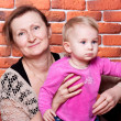 Grandmother and her grand daughter — Stock Photo