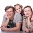 Happy seniors couple with grandchild — Stock Photo #5103019