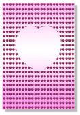 Roze hart achtergrond — Stockfoto