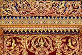 Thai art in Thai temple — Stock Photo