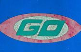 Go sign board — Stock Photo