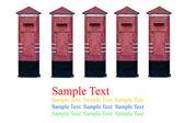 Isolate postbox on white background — Stock Photo