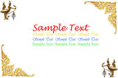 Isolated Thai painting on white background — Foto de Stock