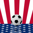 Stock Photo: Football on USflag nation