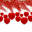 Stock Photo: Red heart tree isolated on white background
