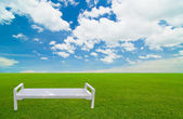 White chair under the blue sky — Stock Photo