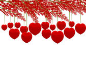 Red heart tree isolated on white background — Stock Photo