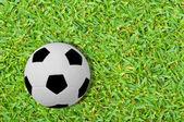 Fútbol en el campo de hierba verde — Foto de Stock