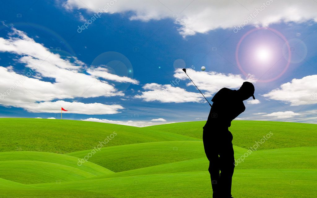 Golf course under the blue sky  — Stock Photo #4928797