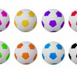 Colorful footballs — Stock Photo #5129370